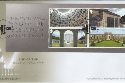 RM End of WW2 MS FDC