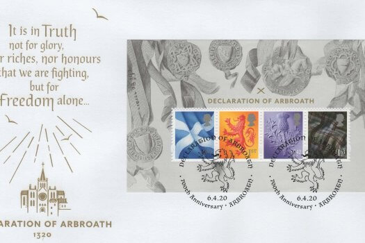 Royal Mail Declaration of Arbroath MS FDC
