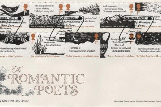 Royal Mail Romantic Poets FDC