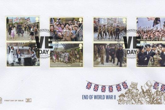 Stuart End of WW2 FDC