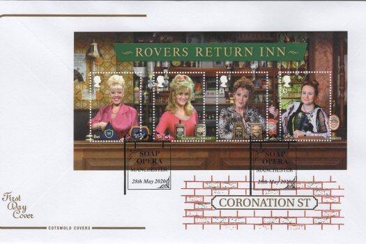 Cotswold Coronation Street Minisheet FDC