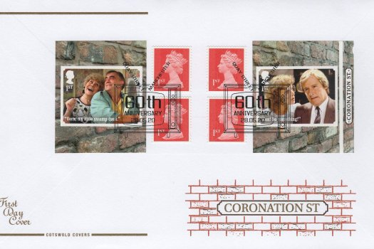 Cotswold Coronation Street Retail Booklet FDC