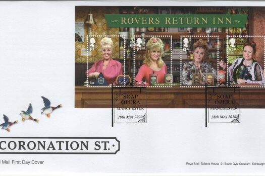 Royal Mail Coronation Street Minisheet FDC