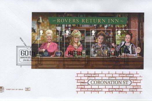 Stuart Coronation Street Minisheet FDC