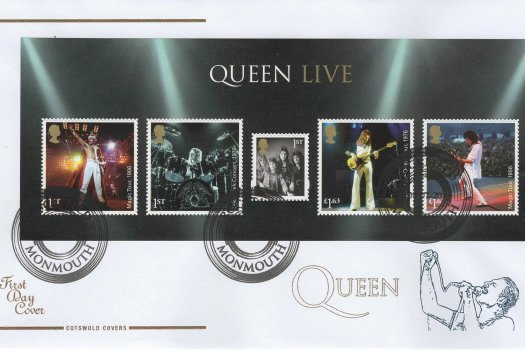 Cotswold Queen Minisheet FDC