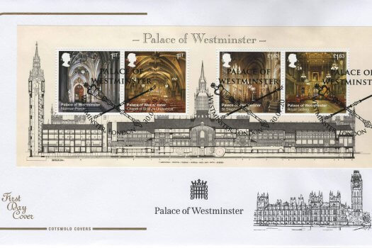 Cotswold Palace of Westminster Minisheet FDC