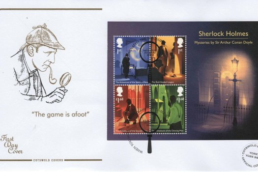 Cotswold Sherlock Minisheet Limited Edition FDC