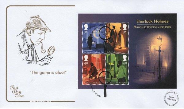 Cotswold Sherlock Minisheet Limited Edition FDC