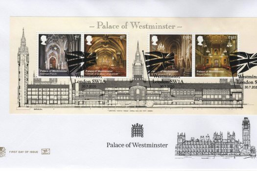 Stuart Palace of Westminster Minisheet FDC