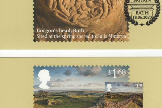 roman Britain stamp card back