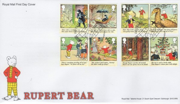 Royal Mail Rupert Bear FDC