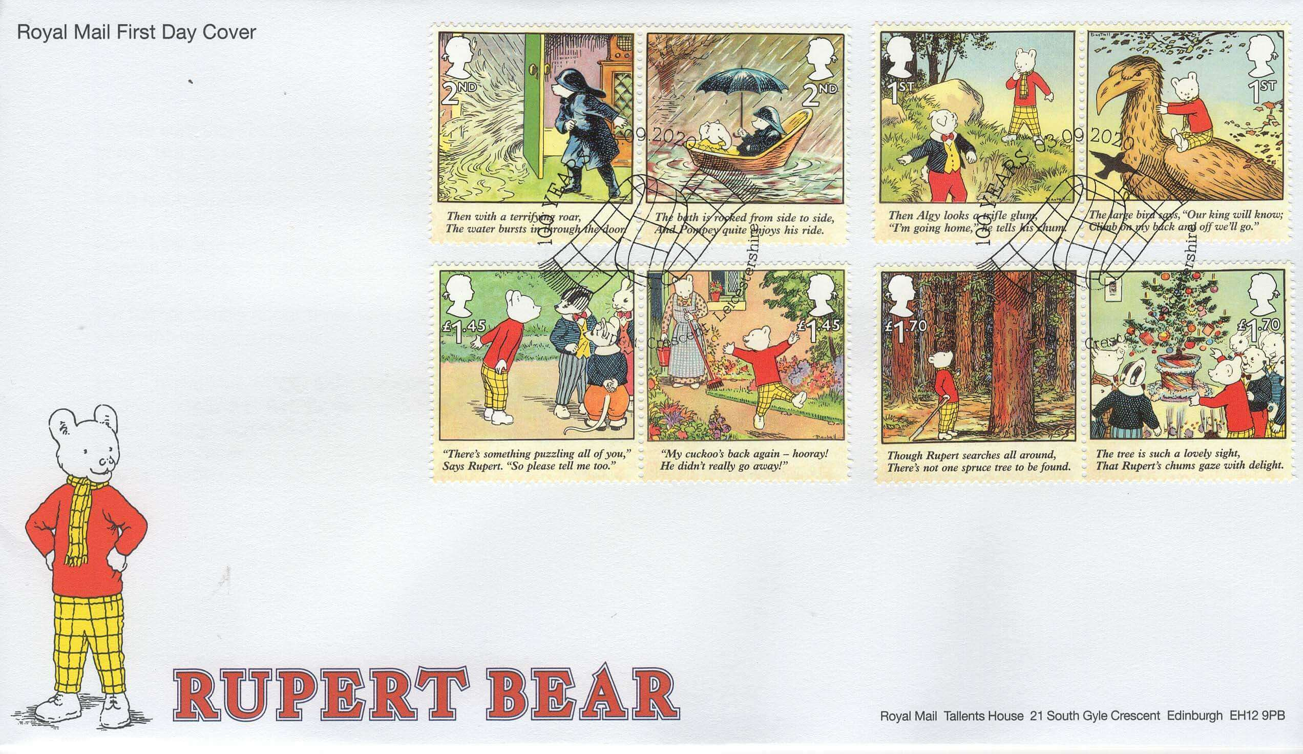 Rupert Bear Stamp First Day Cover 2020