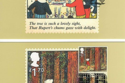 Rupert Bear Stamp Card Back