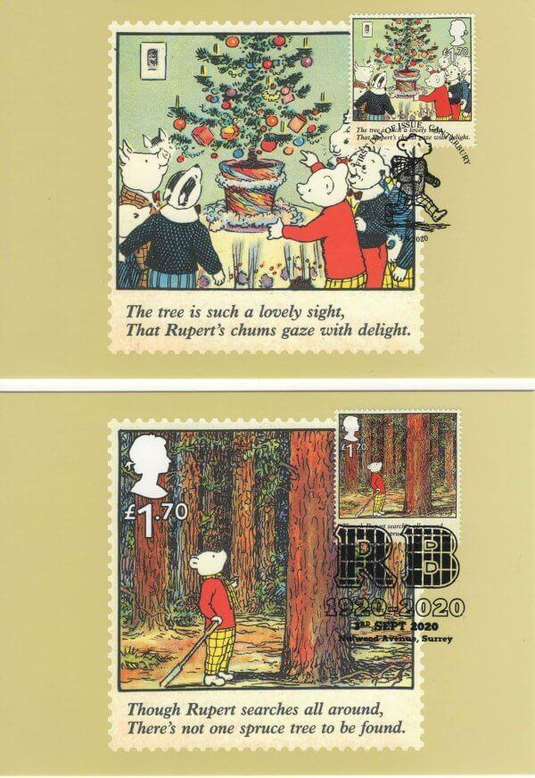 Rupert Bear Stamp Card Back