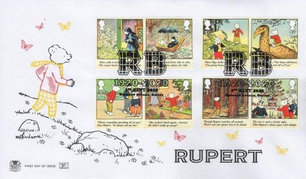 Rupert bear Stuart FDC