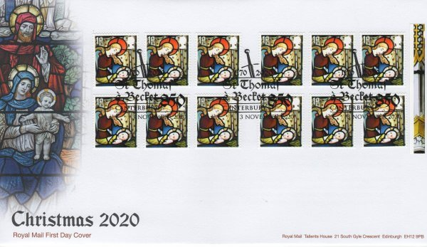 RM Xmas 2020 Retail Book FDC 1st class