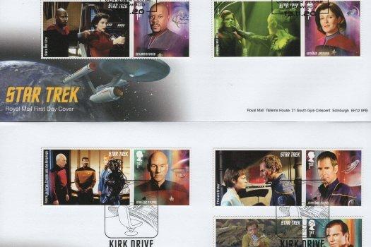 RoyAl Mail Star Trek GS FDC 1