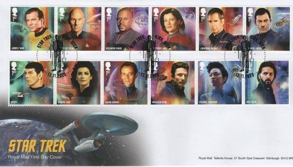 Royal Mail Star Trek FDC