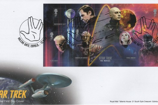 Royal Mail Star Trek MS FDC