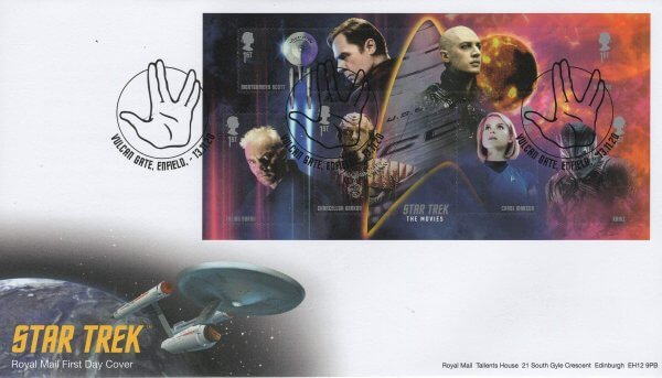 Royal Mail Star Trek MS FDC