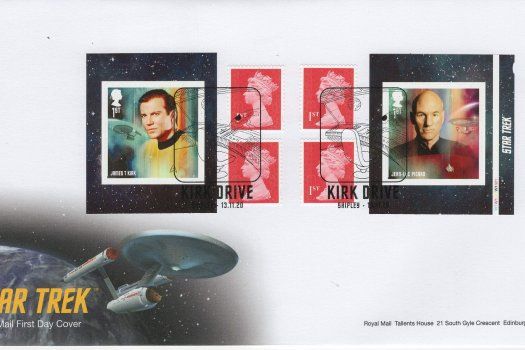 Royal Mail Star Trek Retail Book FDC
