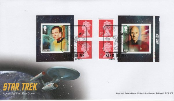 Royal Mail Star Trek Retail Book FDC