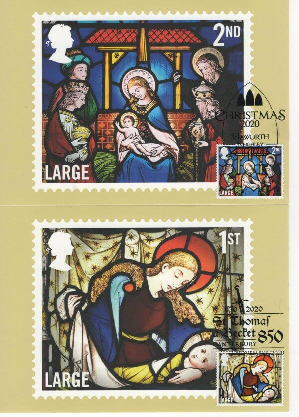 Xmas 2020 Stamp Cards Front