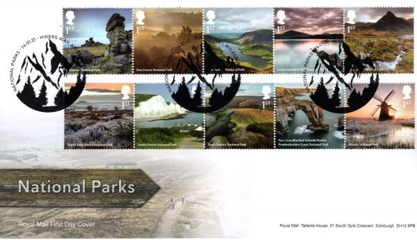 Royal Mail National Parks FDC