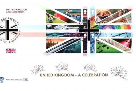 Stuart UK A Celebration MS FDC