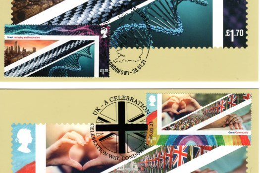 UK A Celebration Stamp Cards Image 2
