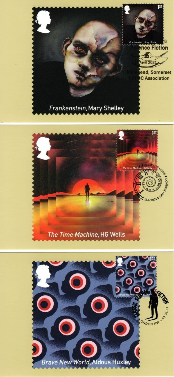 Classic Science Fiction Stamp Cards image 1