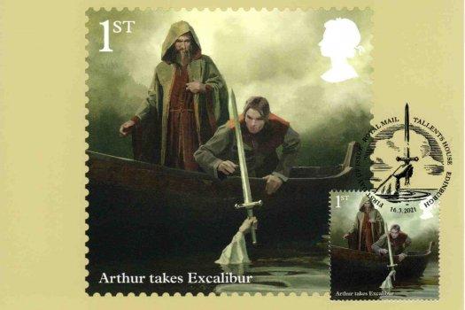 King Arthur Stamp Cards 1
