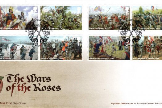 Royal Mail War of the Roses FDC