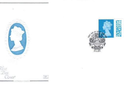 Cotswold 2nd Class Barcoded FDC