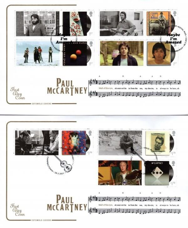Cotswold Paul McCartney Generic Sheet FDC image 1