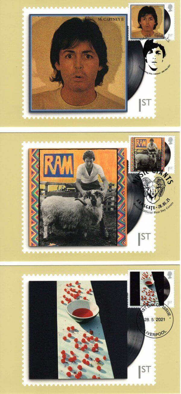 Paul McCartney Stamp Cards image 1