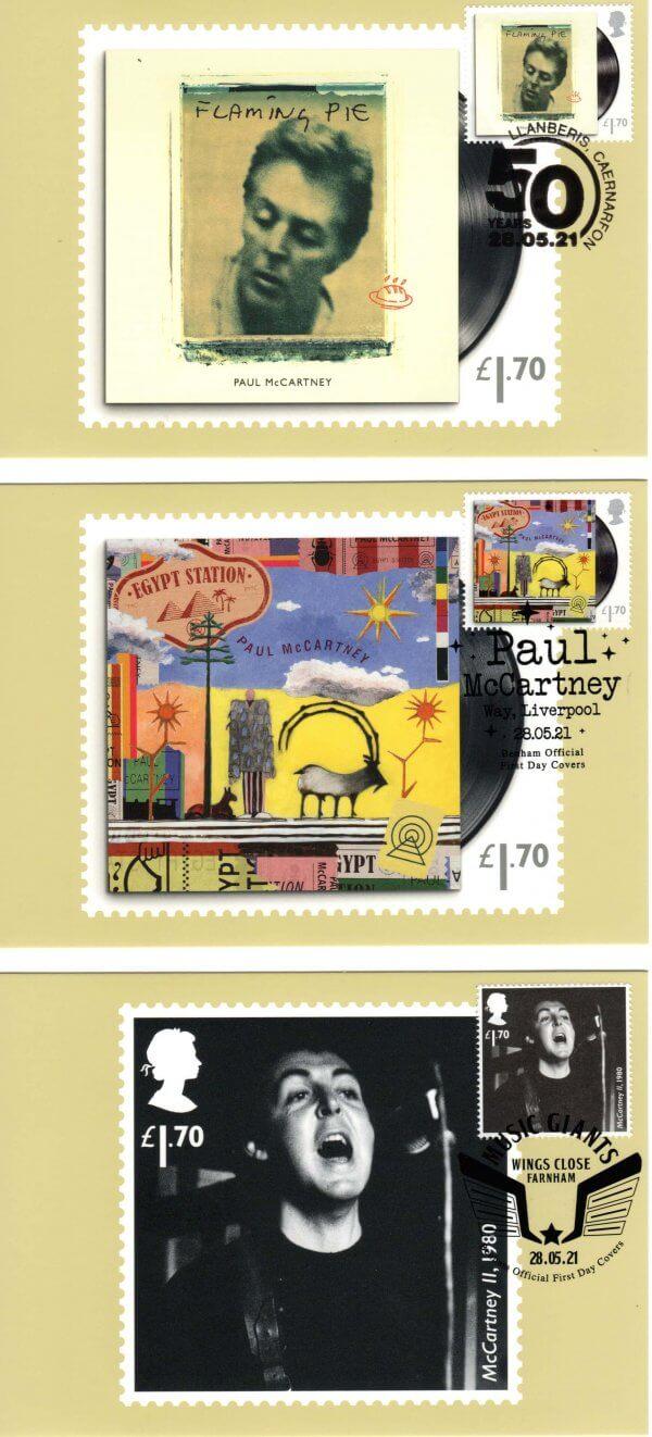Paul McCartney Stamp Cards image 3