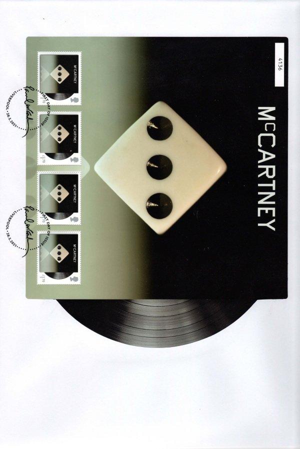 Paul Mccartney McCartney III Album Fan Sheet FDC