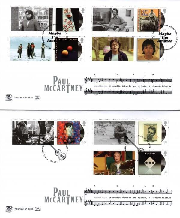 Stuart Paul McCartney Generic Sheet FDC image 1