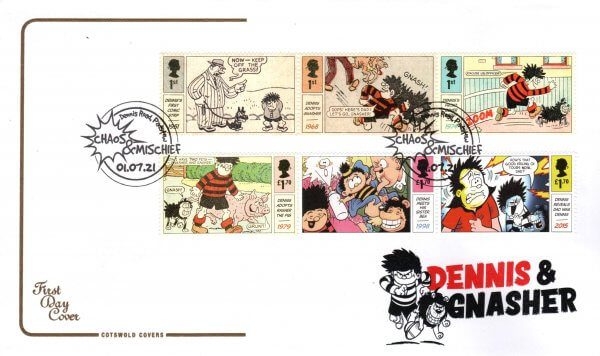 Cotswold Dennis & Gnasher FDC