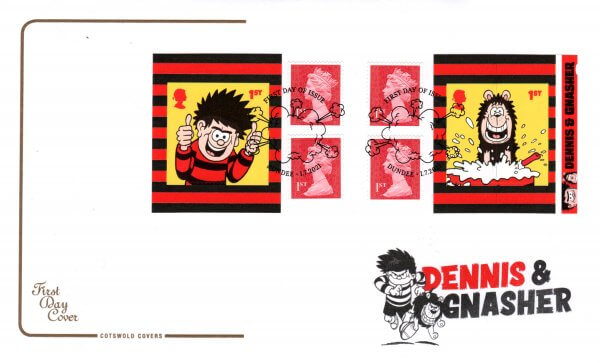 Cotswold Dennis & Gnasher Retail Booklet FDC