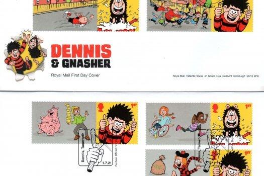 Royal Mail Dennis & Gnasher Generic Sheet FDC image 1