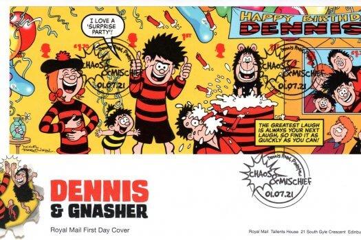 Royal Mail Dennis & Gnasher Minisheet FDC
