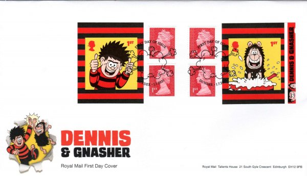 Royal Mail Dennis & Gnasher Retail Booklet FDC