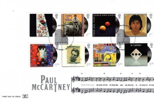 Stuart Paul McCartney Barcoded FDC
