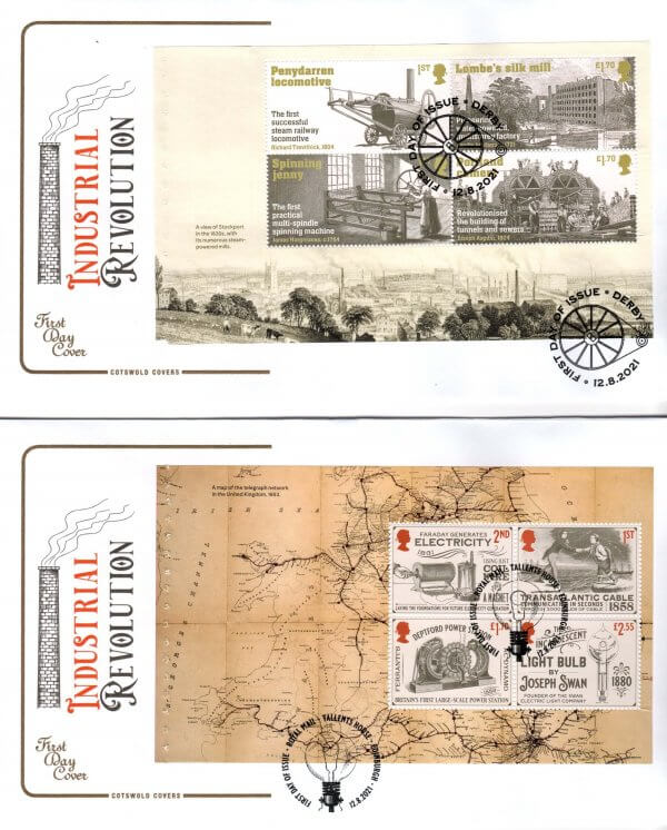Cotswold Industrial Revolution PSB FDC image 1