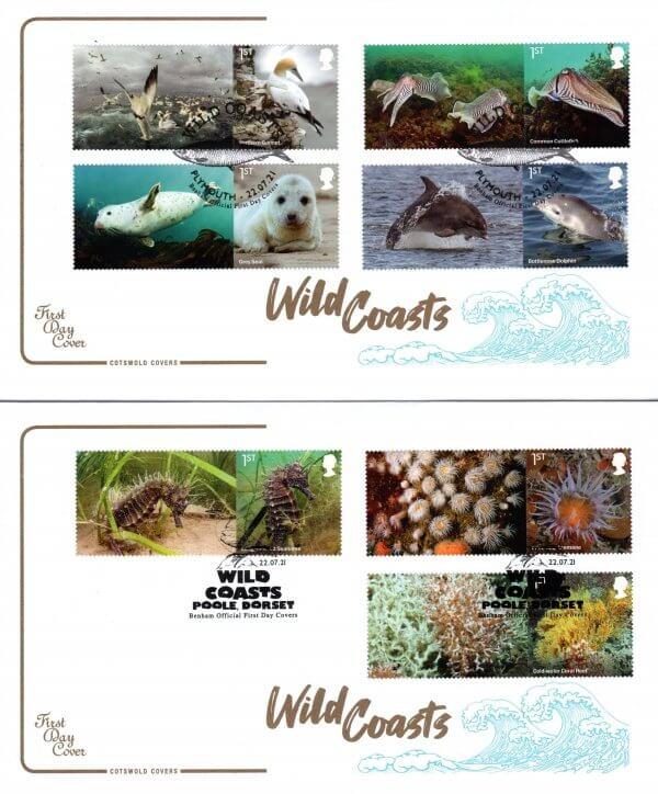 Cotswold Wild Coasts Generic Sheet FDC image 1