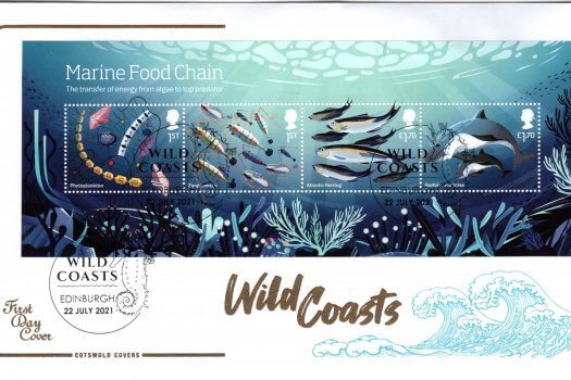 Cotswold Wild Coasts Minisheet FDC