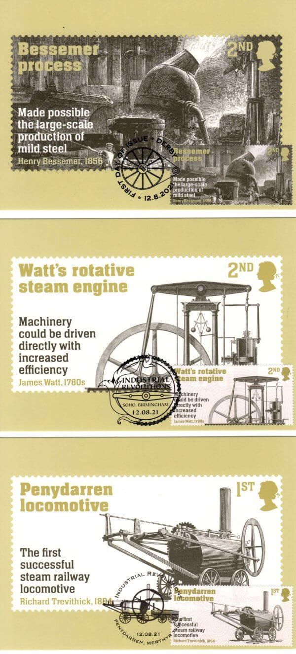 Industrial Revolution Stamp Cards image 1
