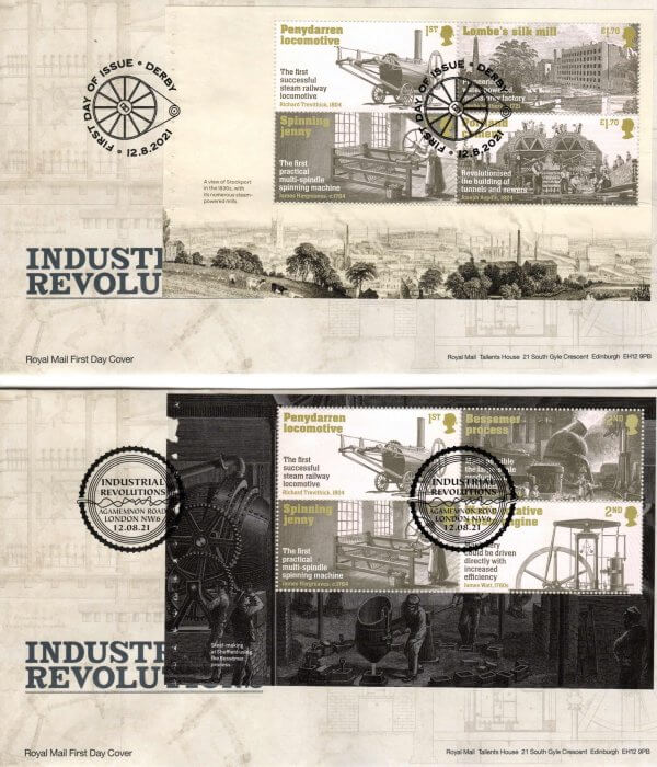 Royal Mail Industrial Revolution PSB FDC image 1